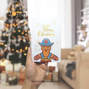 Kartu Ucapan Natal Karakter Gingerbread